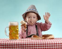 Tenete i bambini lontano dal alcool per le vacanze!